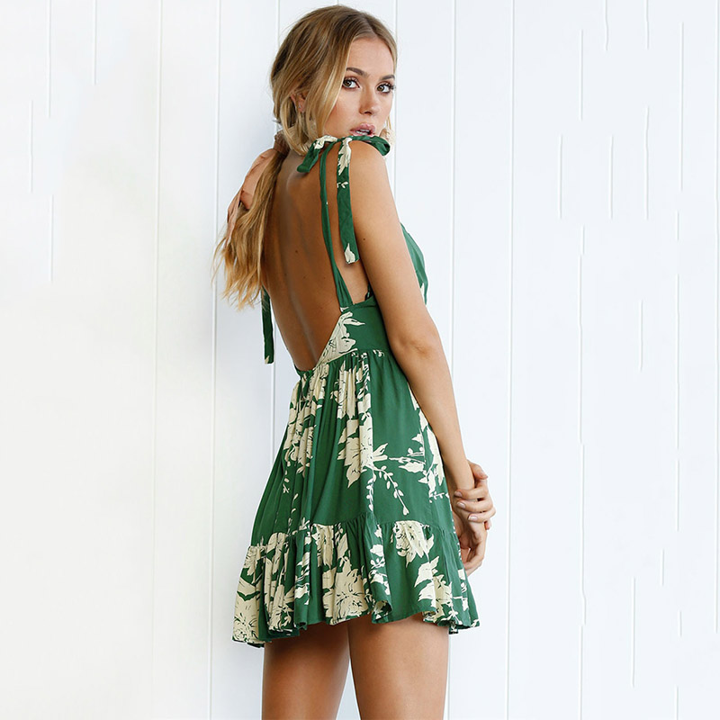 Vestidos verdes de flores