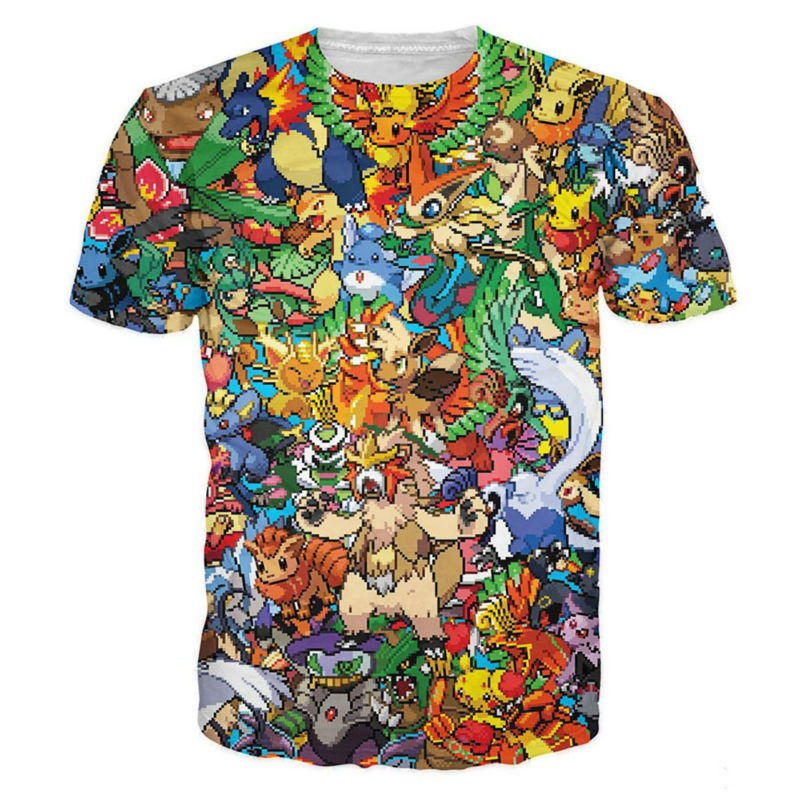 camiseta de pokemon unisex