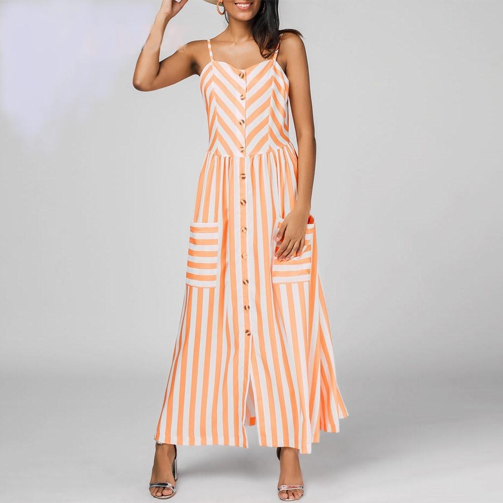 vestido casual verano con rayas