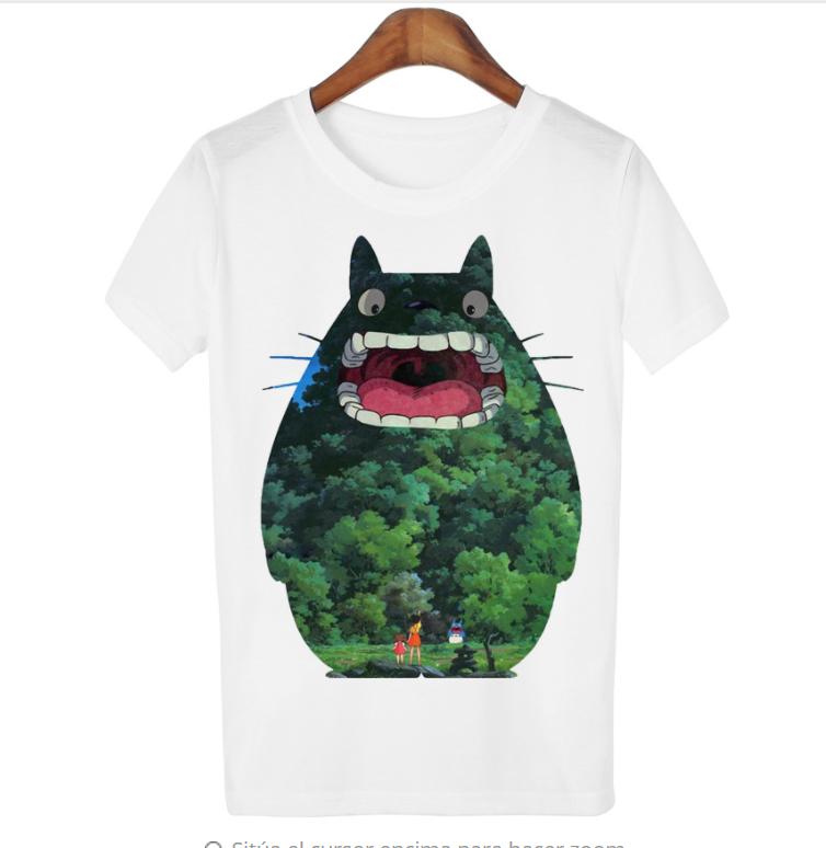 camiseta mujer estampado totoro