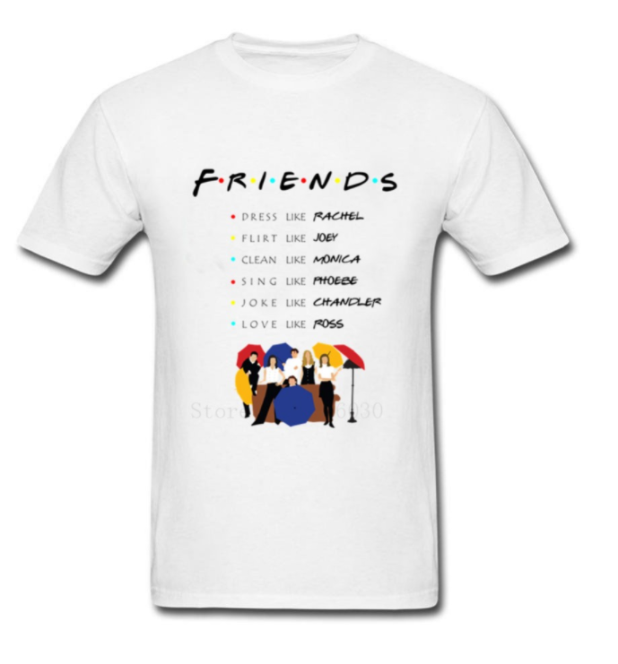 camiseta mangas cortas friends