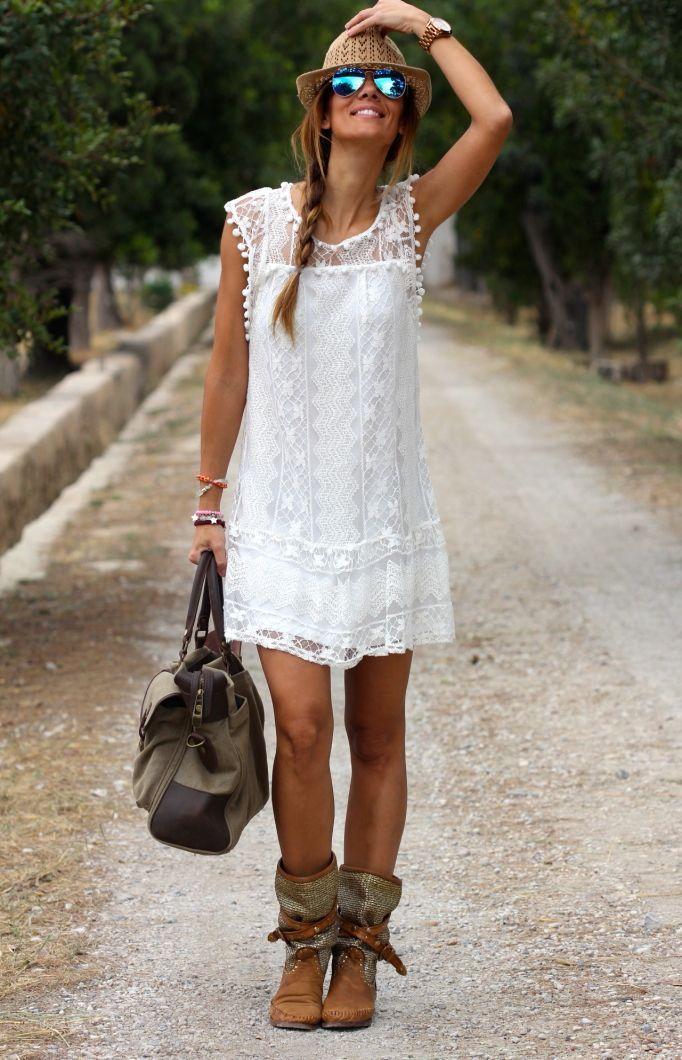 vestido corto encaje verano