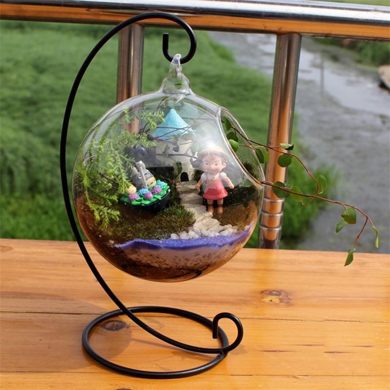 maceta colgante en cristal