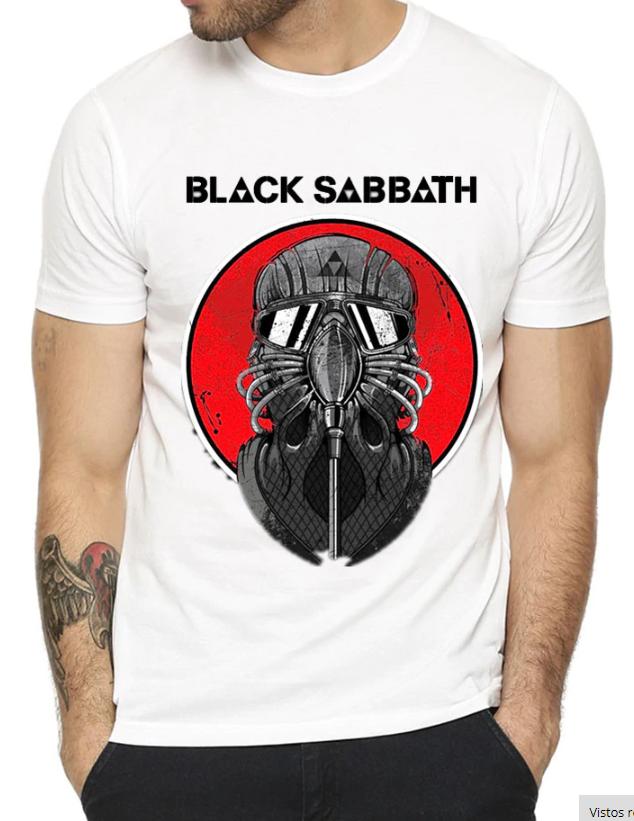 camiseta heavy metal black sabbath