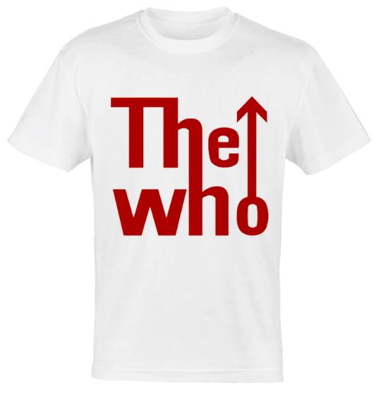 camiseta logo the who
