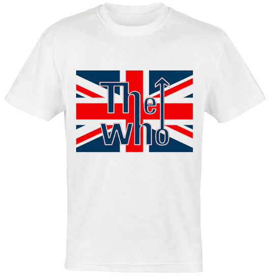 camiseta bandera britanica the who