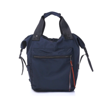 bolso mochila en azul marino