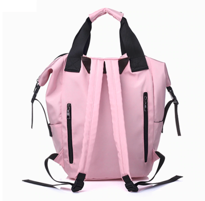 bolso mochila rosa chicle
