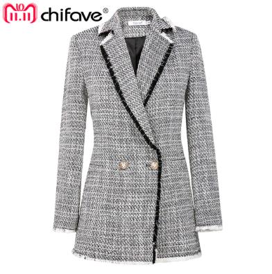chaqueta tweed corta