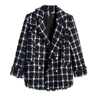 chaqueta tweed negra