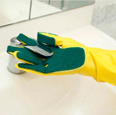 guantes fregar con esponja