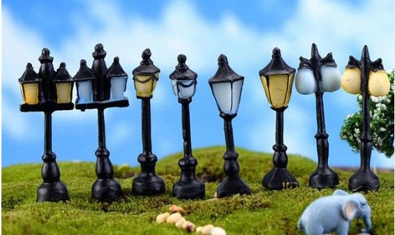 farola en miniatura