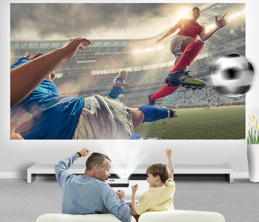 proyector para ver futbol en casa