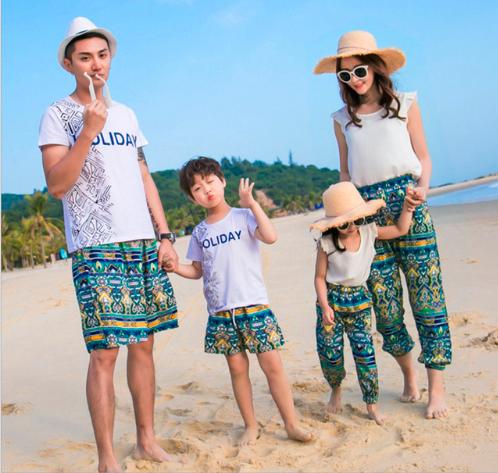 ropa de verano a juego familia