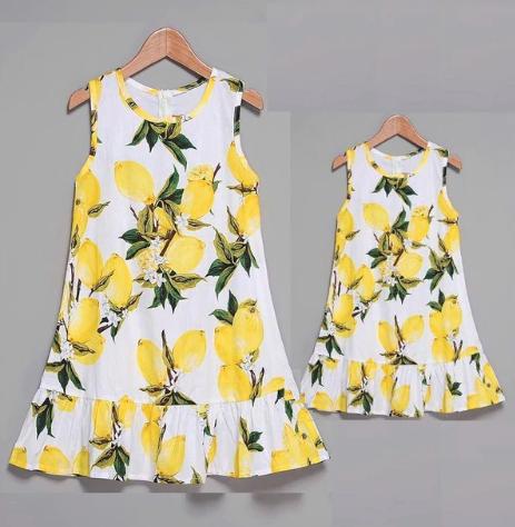 vestidos limones madre e hija